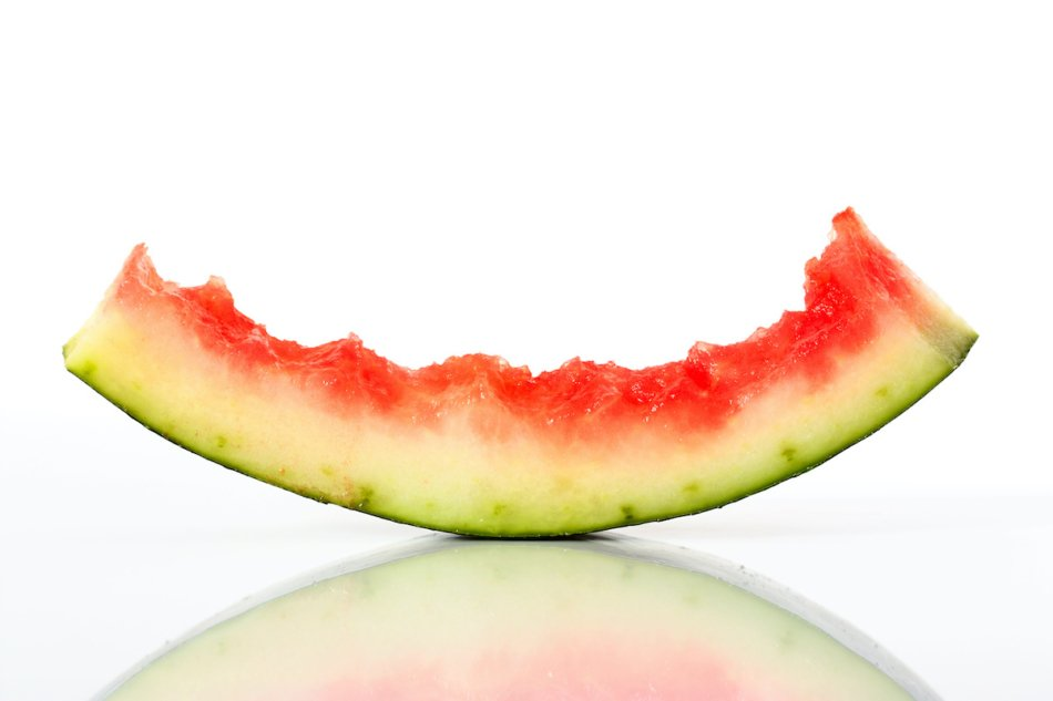 watermelon rind isolated on white