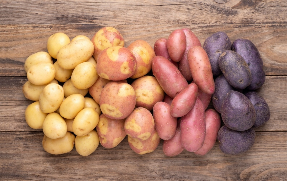 Potatoes - assorted colored potatoes