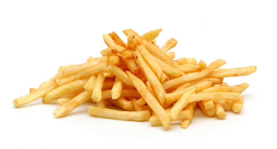 Pile of french fried potatoes french fries