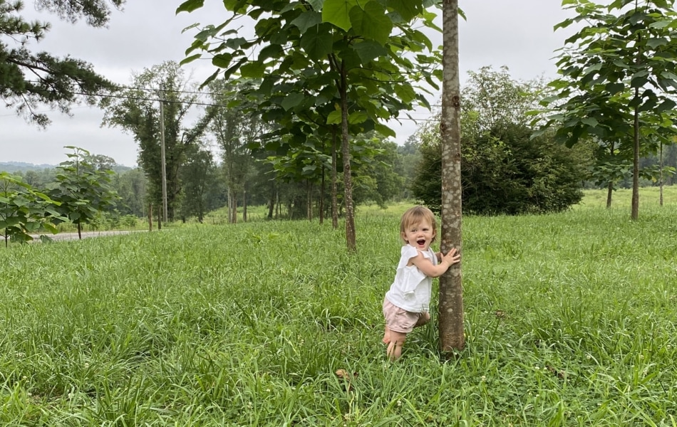 girl at tree
