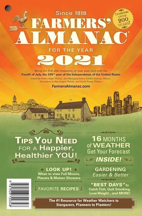 Farmers Almanac Weather Gardening Fishing Full Moons