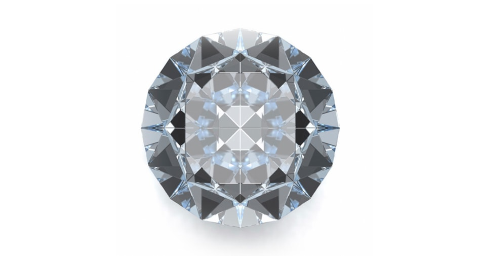 A diamond birthstone symbolizing the month of April against a white background.