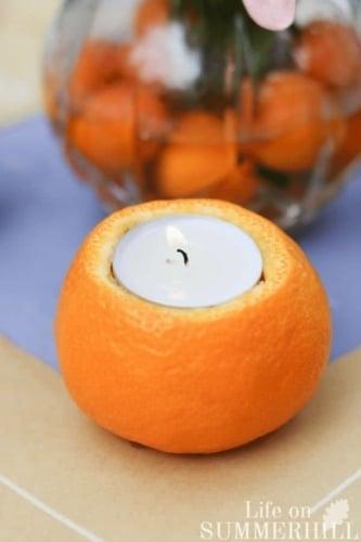 Create An Orange Tea Light image