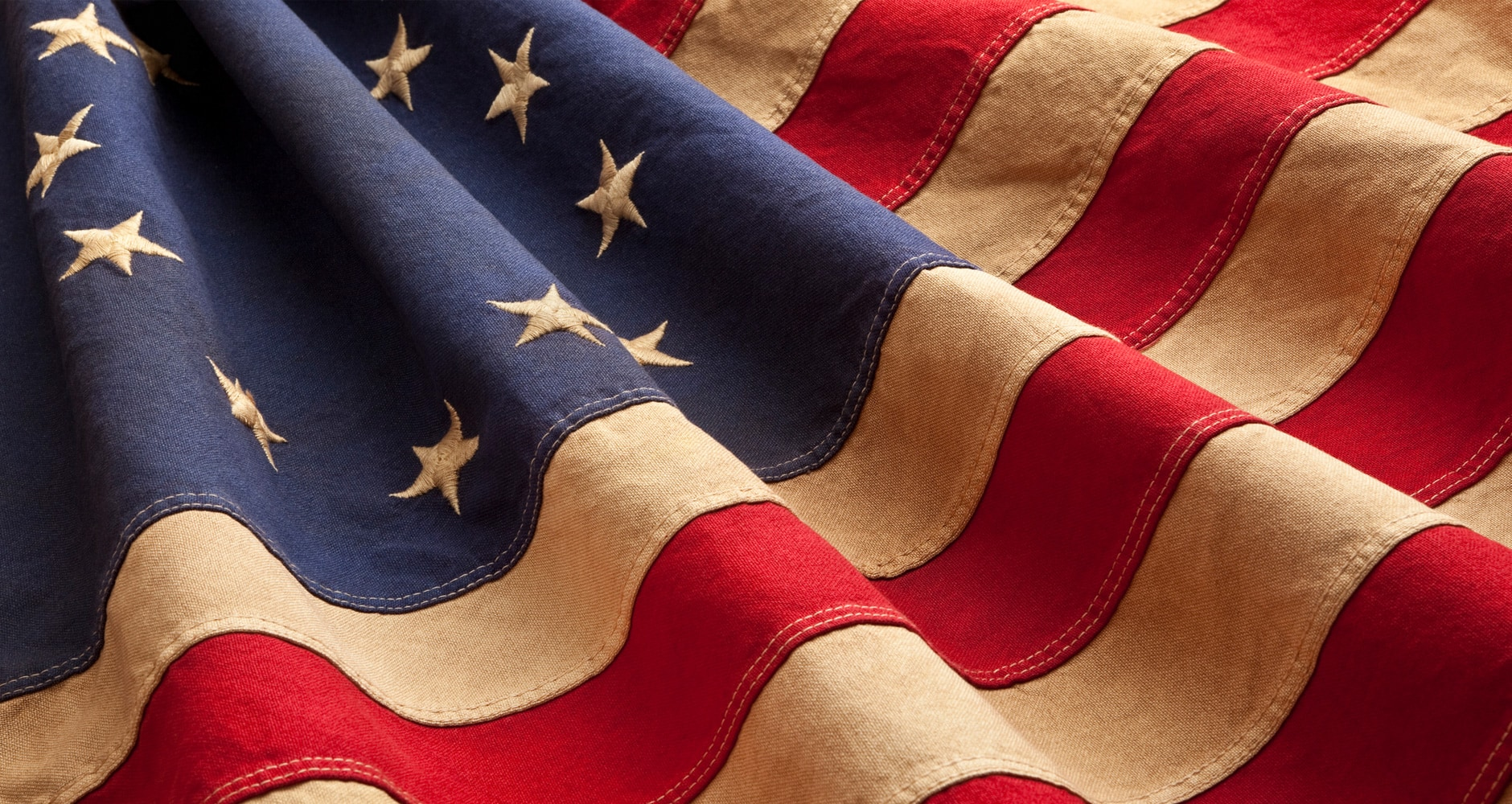 vintage closeup of the betsy ross american flag