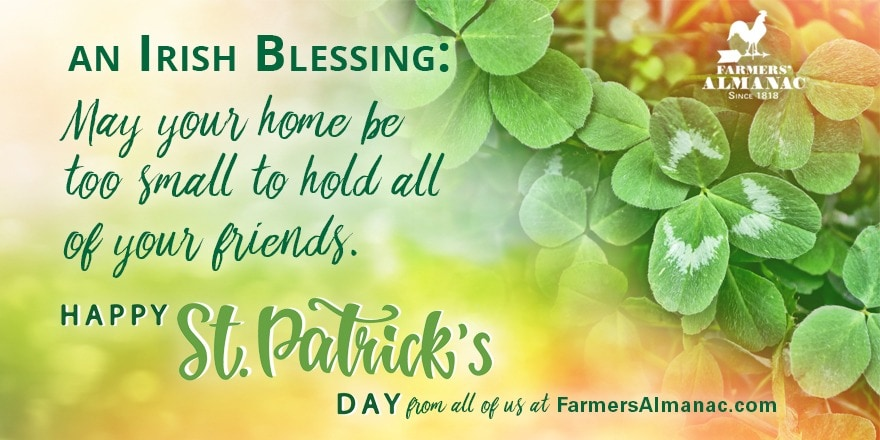 Irish Blessing: May your home be too small to hold all of your friends.image preview