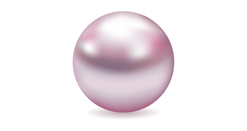 A pearl birthstone symbolizing the month of June against a white background.