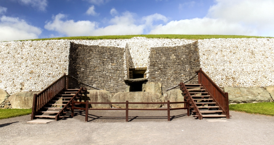 Newgrange Stone Age Passage Tomb in Ireland.