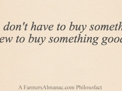 You don't have to buy something new to buy something good. featured image