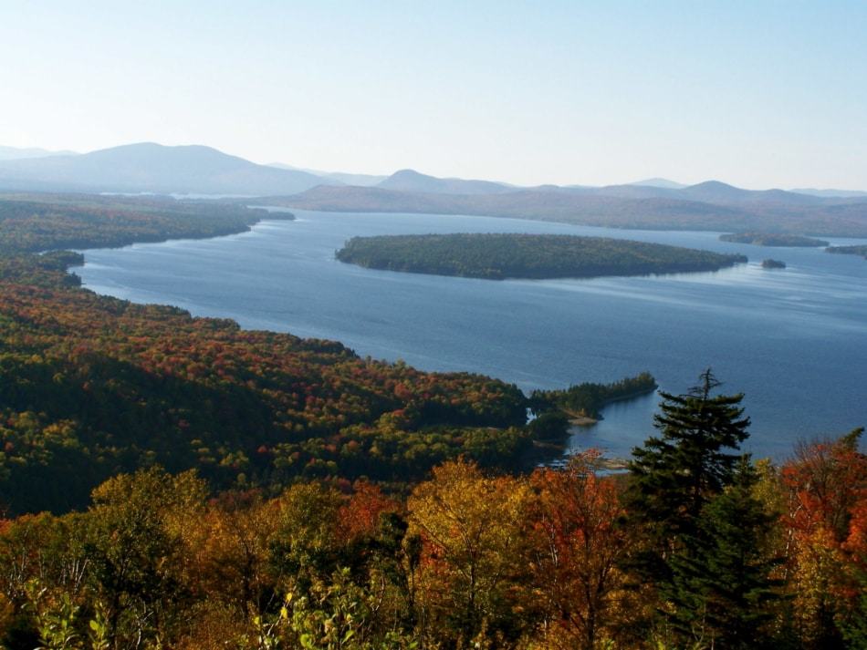 Fall leaves at Rangeley Lakes.