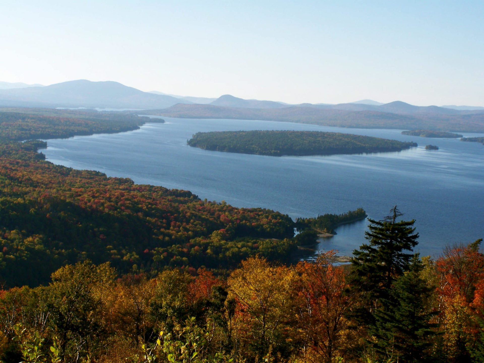 Fall leaves at Rangeley Lakes