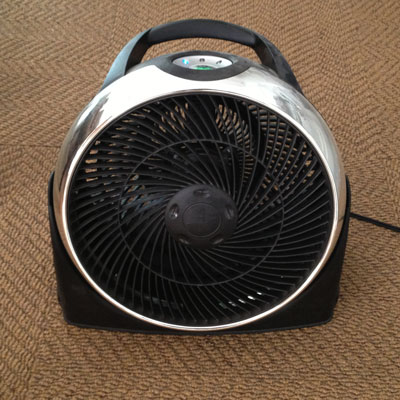 Cooling down with a fan image