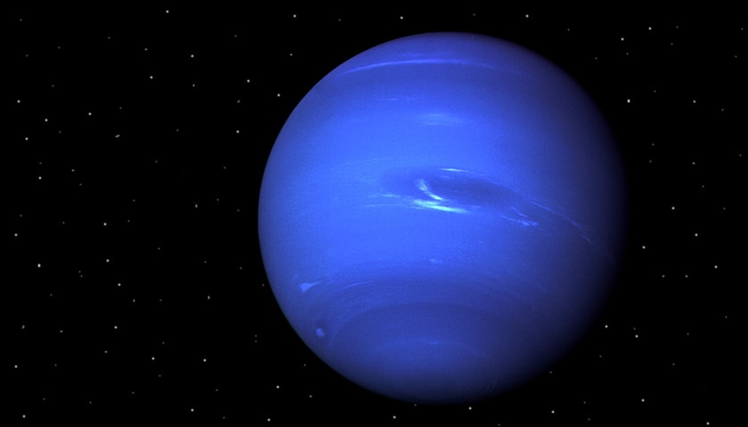 3D Rendering of Neptune the planet with a blueish hue.
