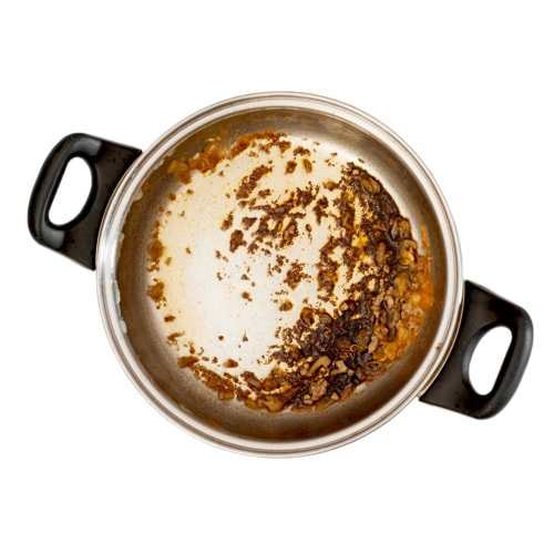 Burned food on your pots and pans? image