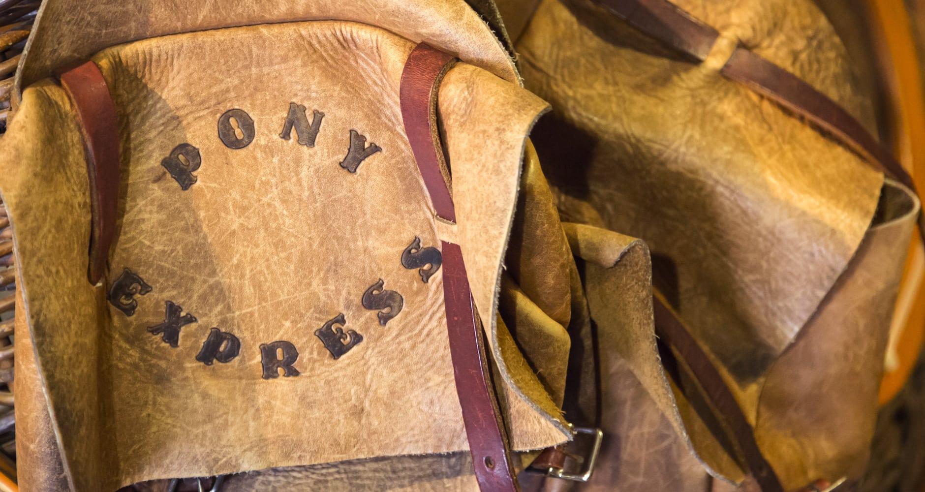 Pony express leather saddlebag
