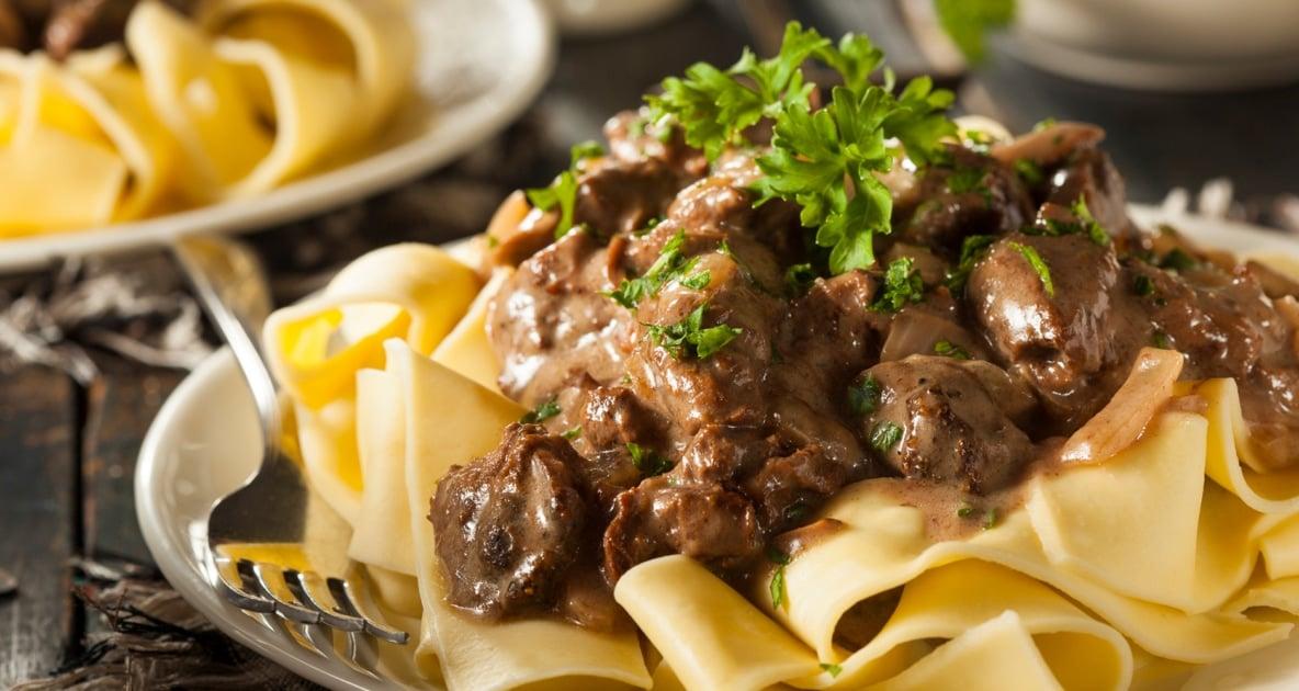 Beef Stroganoff - Pasta