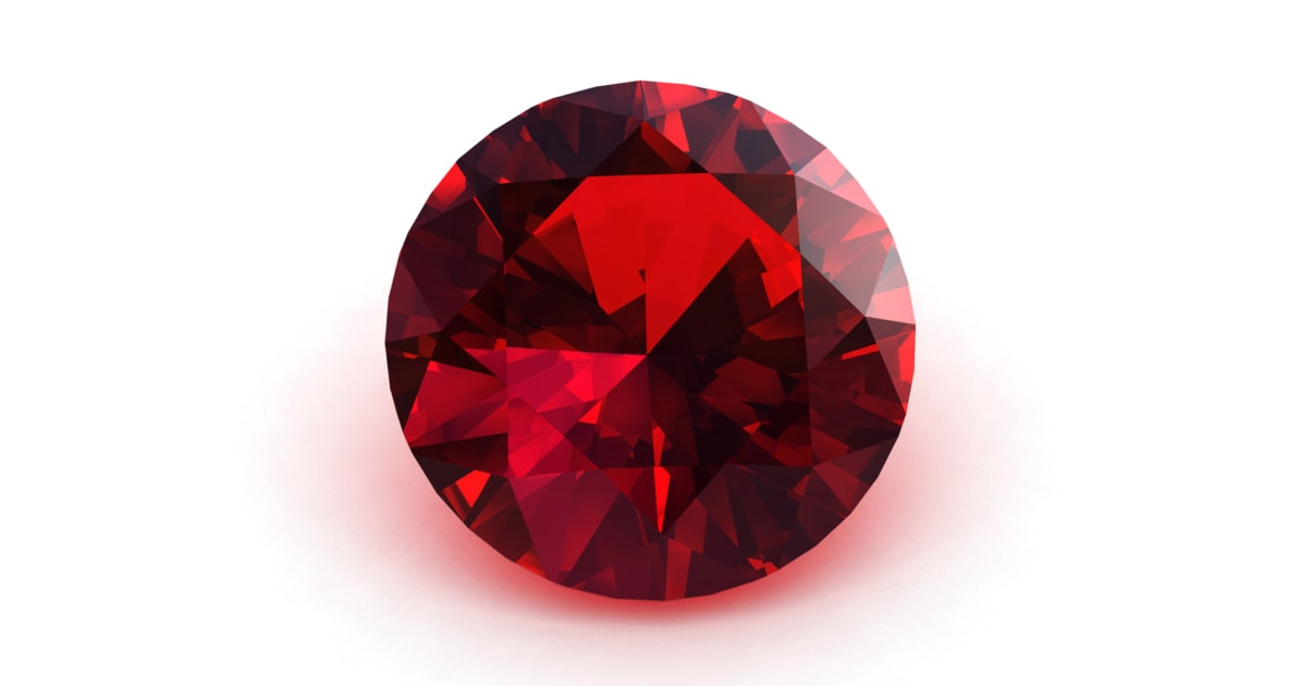 A Garnet Birthstone symbolizing the month of January against a white background.