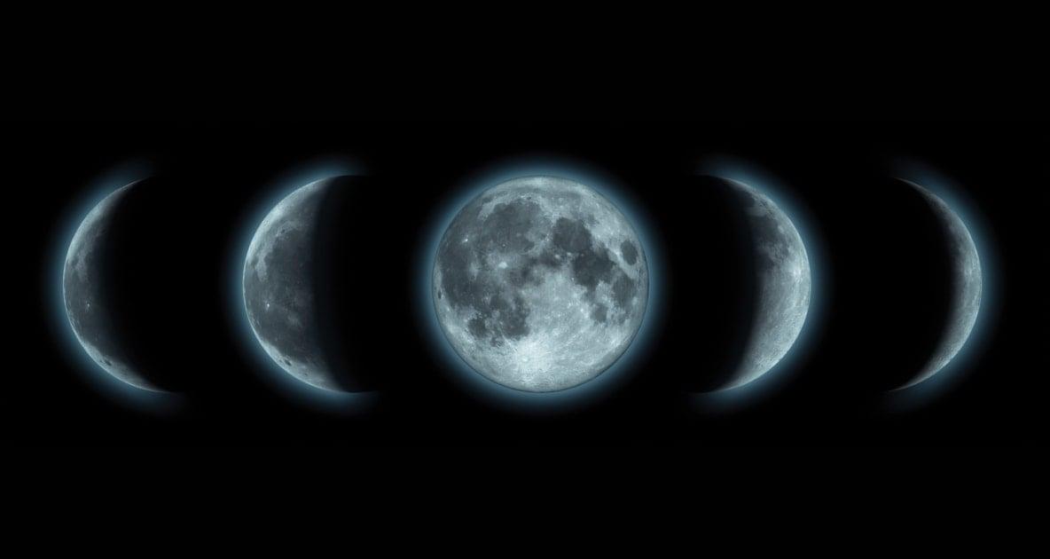 Lunar phase - Moon