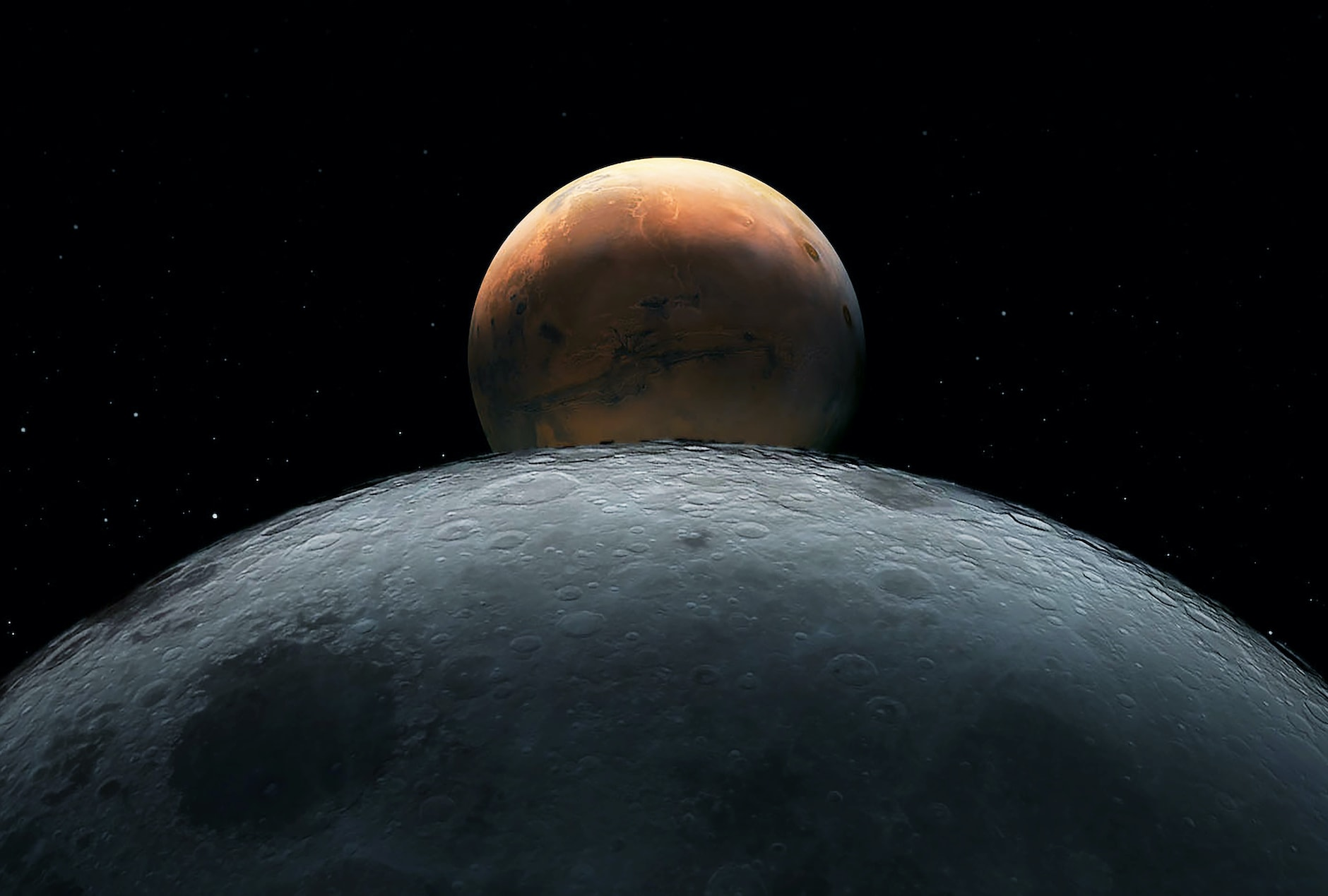 September 5: Bright Mars and Moon Pair Up For A Stunning Displayimage preview