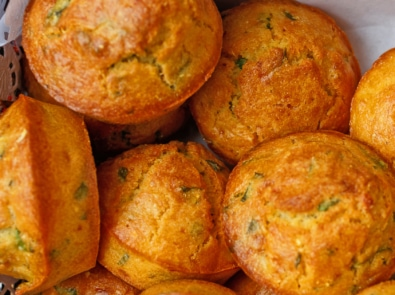 Dill Pickle Cornbread Muffins with Pickle Butter featured image