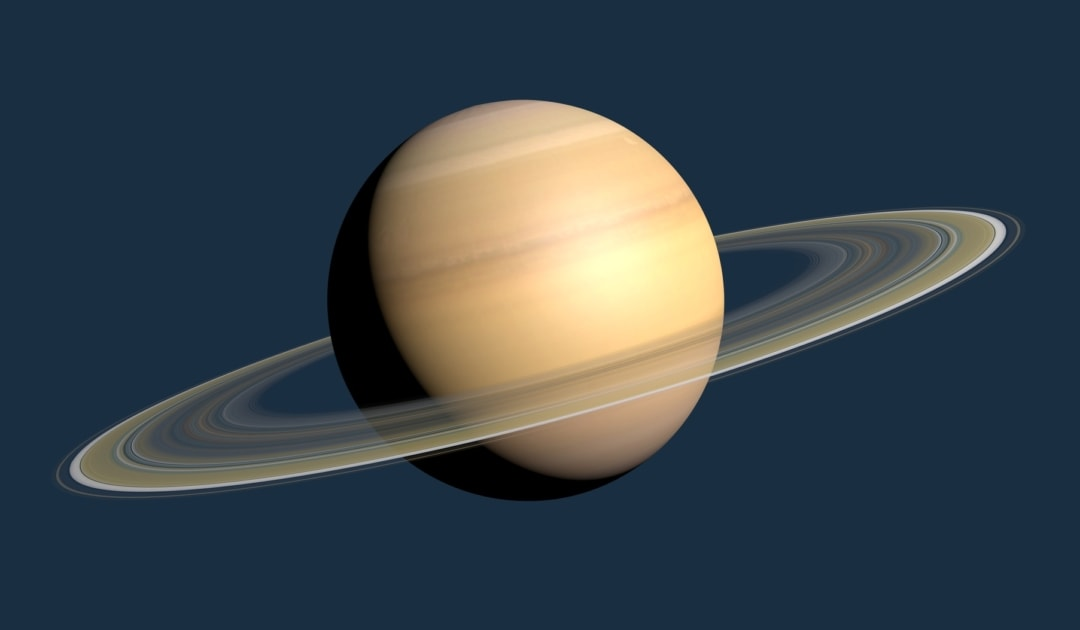 3D Rendering of Saturn with ring.