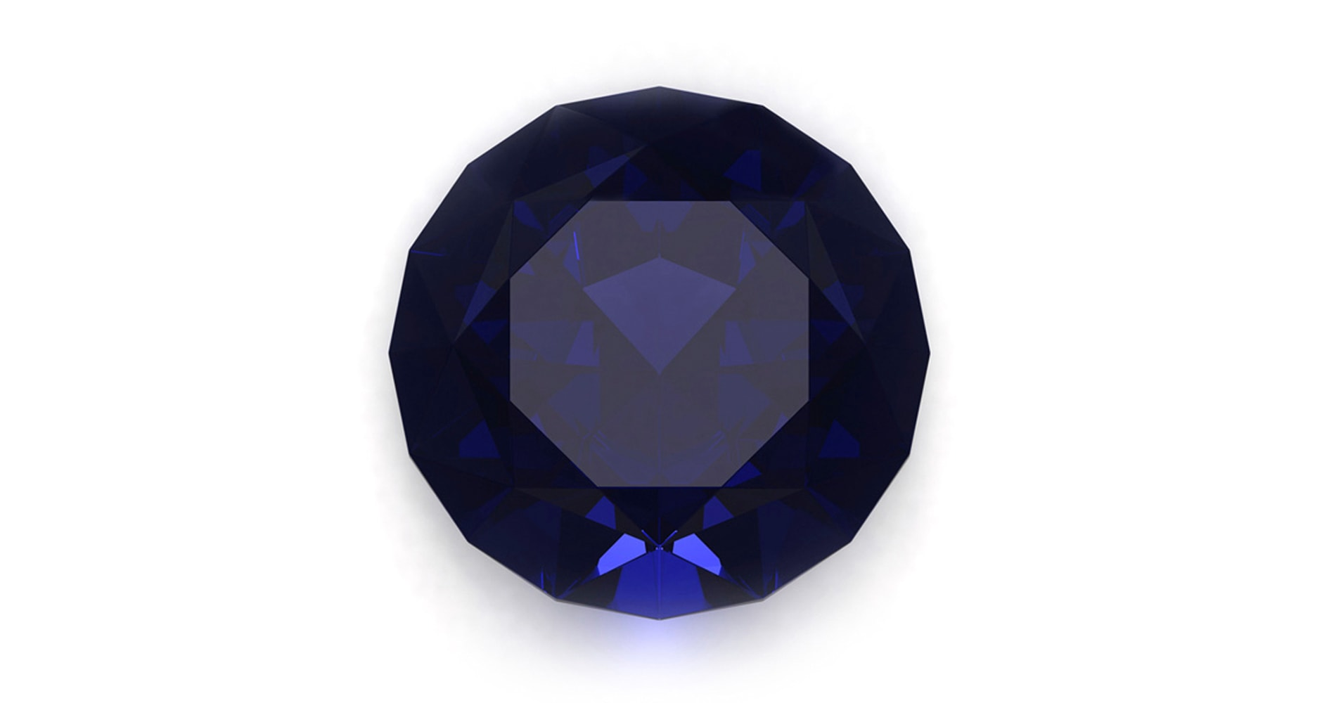 Sapphire on white background