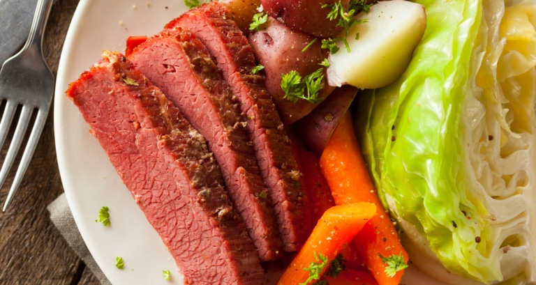 Irish cuisine - Corned Beef and cabbage