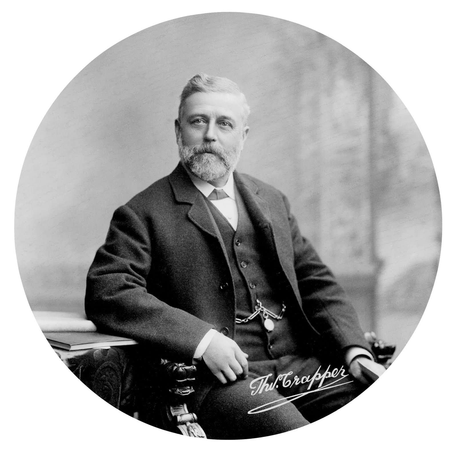 Thomas Crapper in black & white old photo