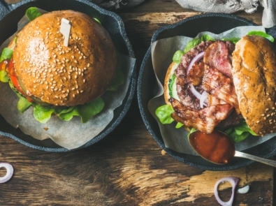 Grilled Turkey Burger with Pineapple and Bourbon Brown Sugar Bacon featured image