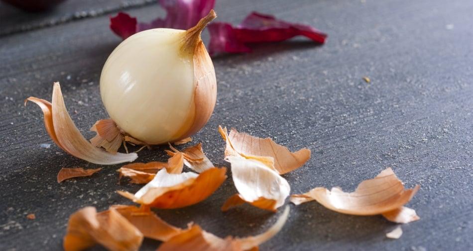 onion and onion peels