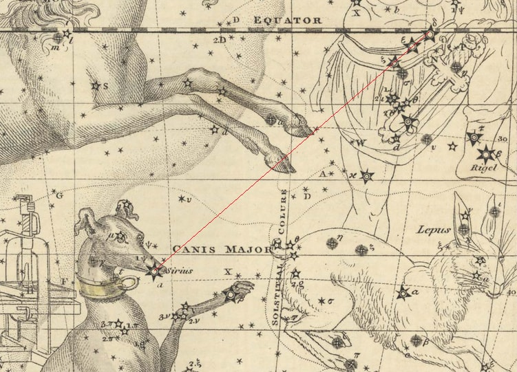 Star chart - Astronomy