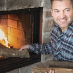 Fireplace - Stock photography