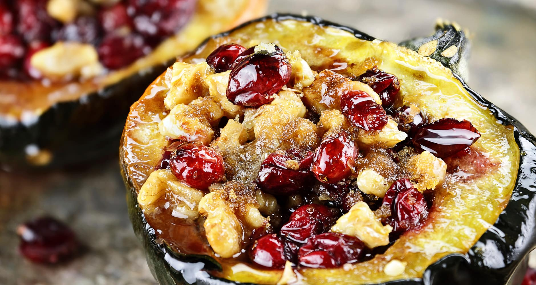 Baked Stuffed Acorn Squash With Cranberry Stuffingimage preview