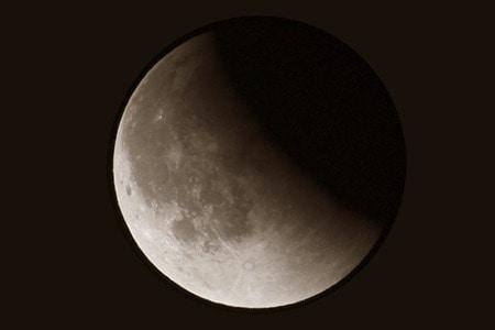 A lunar eclipse from October 2014.