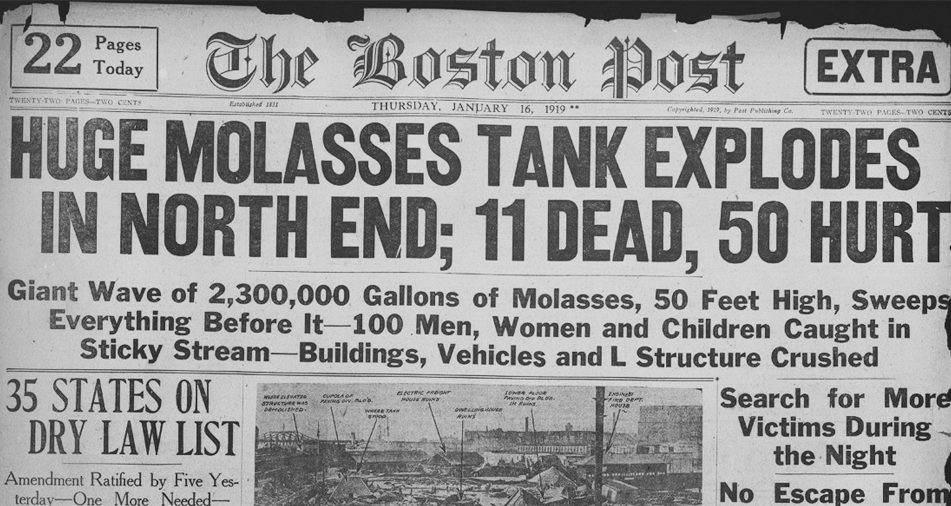 A Strange Disaster: Great Molasses Flood of 1919image preview