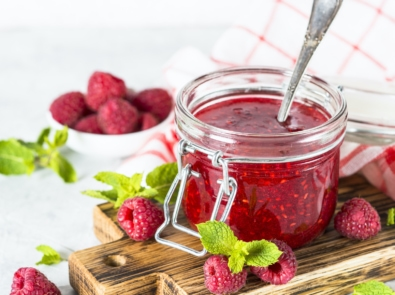 Small Batch Raspberry Jam—Only 2 Ingredients! featured image