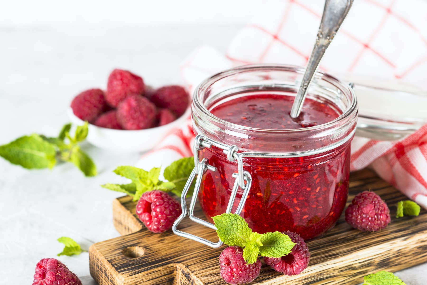 Small Batch Raspberry Jam—Only 2 Ingredients!image preview