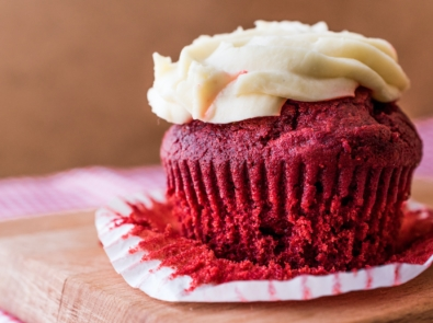 Beet Red Velvet Cupcakes With Cream Cheese Frosting featured image