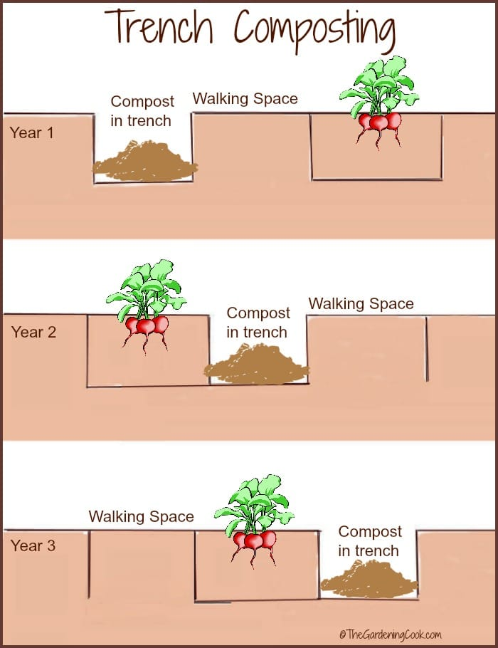crop rotation trench composting