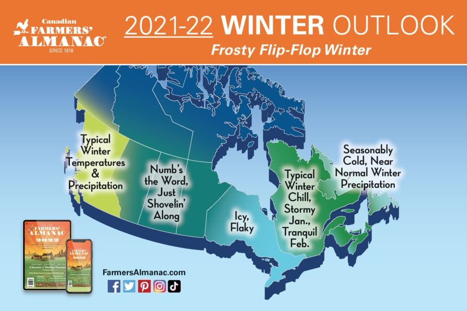 Canadian Winter 2022 map