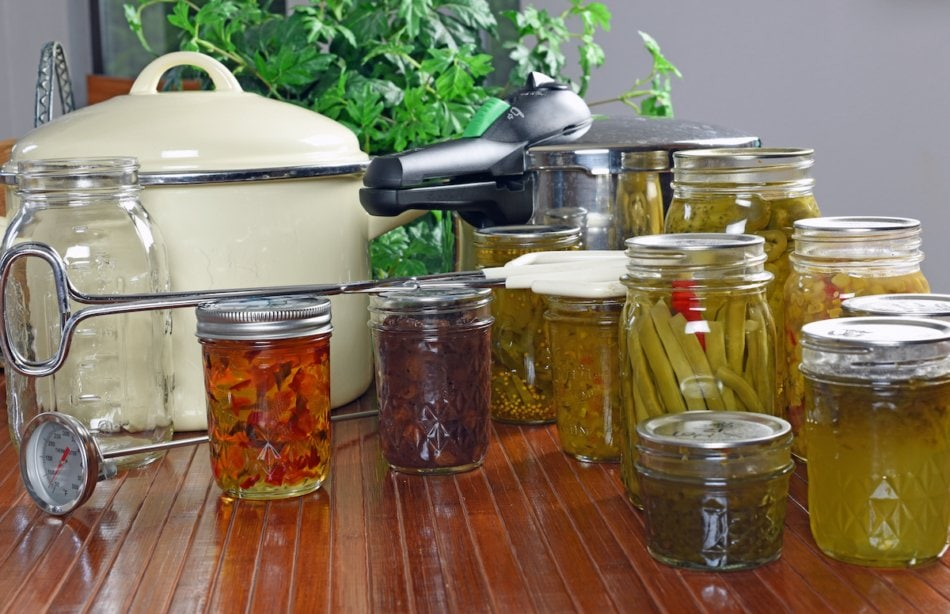 Home canning and preserving of fresh food.